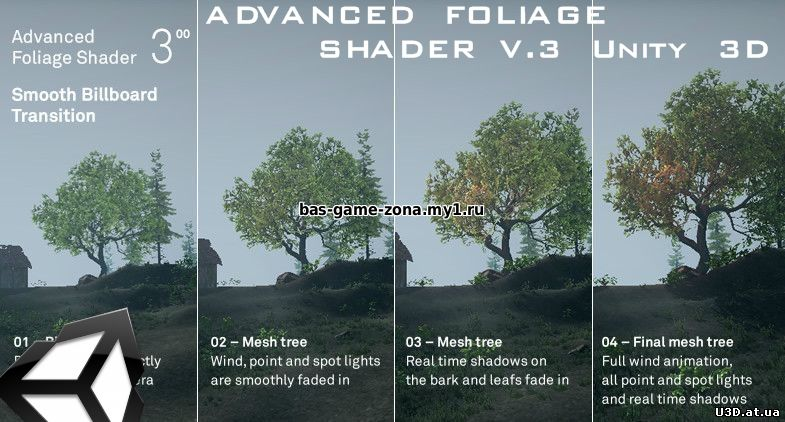 ADVANCED FOLIAGE SHADER V 3 Unity 3D - Редакторы - Контент для